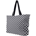 Black and white Triangles pattern, geometric Simple Shoulder Bag