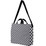 Black and white Triangles pattern, geometric Square Shoulder Tote Bag