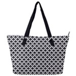 Black and white Triangles pattern, geometric Full Print Shoulder Bag