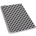 Black and white Triangles pattern, geometric 5.5  x 8.5  Notebook