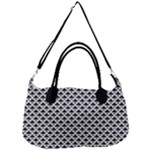 Black and white Triangles pattern, geometric Removal Strap Handbag