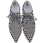Black and white Triangles pattern, geometric Pointed Oxford Shoes