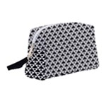 Black and white Triangles pattern, geometric Wristlet Pouch Bag (Medium)