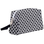 Black and white Triangles pattern, geometric Wristlet Pouch Bag (Large)