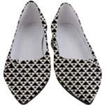 Black and white Triangles pattern, geometric Women s Block Heels