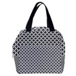 Black and white Triangles pattern, geometric Boxy Hand Bag