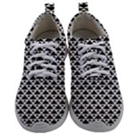Black and white Triangles pattern, geometric Mens Athletic Shoes
