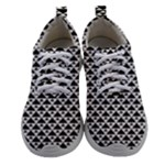 Black and white Triangles pattern, geometric Athletic Shoes