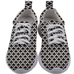 Black and white Triangles pattern, geometric Kids Athletic Shoes