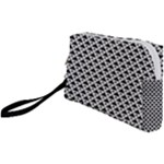 Black and white Triangles pattern, geometric Wristlet Pouch Bag (Small)