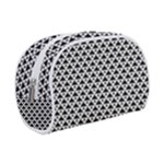 Black and white Triangles pattern, geometric Makeup Case (Small)