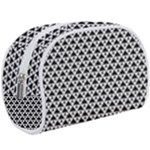 Black and white Triangles pattern, geometric Makeup Case (Large)