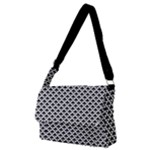 Black and white Triangles pattern, geometric Full Print Messenger Bag (M)