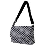Black and white Triangles pattern, geometric Full Print Messenger Bag (L)
