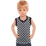 Black and white Triangles pattern, geometric Kids  Sport Tank Top