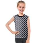 Black and white Triangles pattern, geometric Kids  Mesh Tank Top