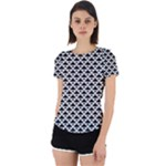 Black and white Triangles pattern, geometric Back Cut Out Sport Tee