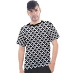 Black and white Triangles pattern, geometric Men s Sport Top