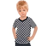 Black and white Triangles pattern, geometric Kids  Sports Tee