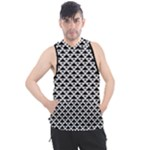 Black and white Triangles pattern, geometric Men s Sleeveless Hoodie
