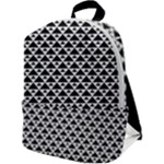 Black and white Triangles pattern, geometric Zip Up Backpack