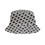 Black and white Triangles pattern, geometric Bucket Hat