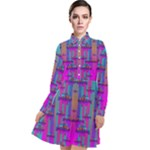 Tropical Rainbow Fishes  In Meadows Of Seagrass Long Sleeve Chiffon Shirt Dress