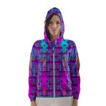 Tropical Rainbow Fishes  In Meadows Of Seagrass Women s Hooded Windbreaker