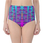 Tropical Rainbow Fishes  In Meadows Of Seagrass Classic High-Waist Bikini Bottoms
