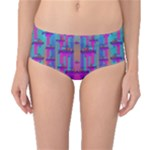 Tropical Rainbow Fishes  In Meadows Of Seagrass Mid-Waist Bikini Bottoms