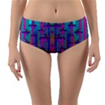 Tropical Rainbow Fishes  In Meadows Of Seagrass Reversible Mid-Waist Bikini Bottoms