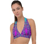 Tropical Rainbow Fishes  In Meadows Of Seagrass Halter Plunge Bikini Top