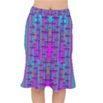 Tropical Rainbow Fishes  In Meadows Of Seagrass Short Mermaid Skirt