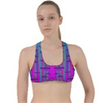 Tropical Rainbow Fishes  In Meadows Of Seagrass Criss Cross Racerback Sports Bra