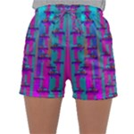 Tropical Rainbow Fishes  In Meadows Of Seagrass Sleepwear Shorts