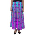 Tropical Rainbow Fishes  In Meadows Of Seagrass Flared Maxi Skirt
