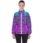 Tropical Rainbow Fishes  In Meadows Of Seagrass Women s High Neck Windbreaker