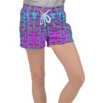 Tropical Rainbow Fishes  In Meadows Of Seagrass Velour Lounge Shorts