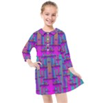 Tropical Rainbow Fishes  In Meadows Of Seagrass Kids  Quarter Sleeve Shirt Dress
