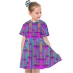 Tropical Rainbow Fishes  In Meadows Of Seagrass Kids  Sailor Dress