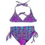 Tropical Rainbow Fishes  In Meadows Of Seagrass Kids  Classic Bikini Set