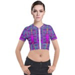 Tropical Rainbow Fishes  In Meadows Of Seagrass Short Sleeve Cropped Jacket