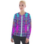 Tropical Rainbow Fishes  In Meadows Of Seagrass Velvet Zip Up Jacket