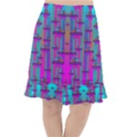 Tropical Rainbow Fishes  In Meadows Of Seagrass Fishtail Chiffon Skirt
