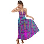 Tropical Rainbow Fishes  In Meadows Of Seagrass Backless Maxi Beach Dress