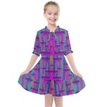 Tropical Rainbow Fishes  In Meadows Of Seagrass Kids  All Frills Chiffon Dress