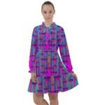 Tropical Rainbow Fishes  In Meadows Of Seagrass All Frills Chiffon Dress