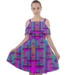Tropical Rainbow Fishes  In Meadows Of Seagrass Cut Out Shoulders Chiffon Dress