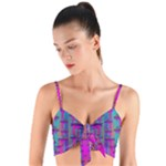 Tropical Rainbow Fishes  In Meadows Of Seagrass Woven Tie Front Bralet