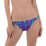 Tropical Rainbow Fishes  In Meadows Of Seagrass Ring Detail Bikini Bottom